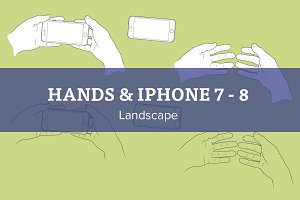 Hands with iPhone 7 - 8 landscape