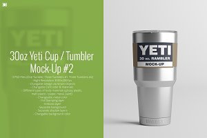 30oz. Yeti Cup / Tumbler Mock-Up #2