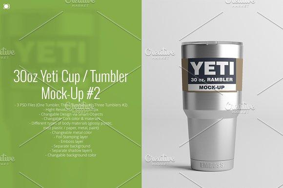Download 30oz. Yeti Cup / Tumbler Mock-Up #2