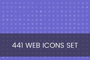 Illustration set of web icons
