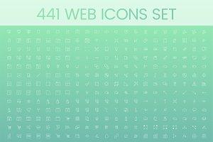 Illustration set of web icons