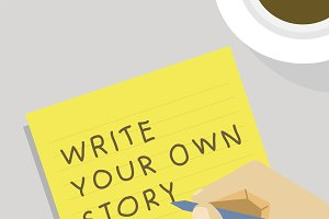 'Write your own story' illustration