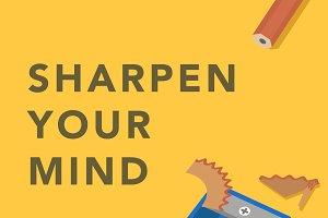 'Sharpen your mind' illustration