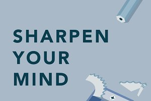 'Sharpen your mind' illustration