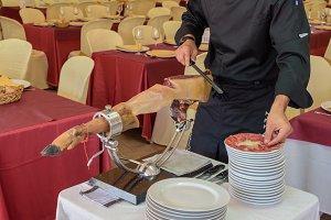Ham cutter in full working order