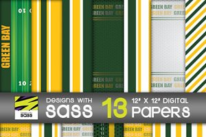 Digital Paper, Green Bay Football
