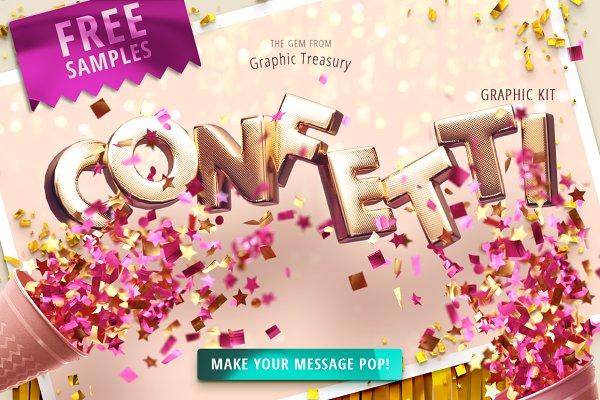 Confetti Party — Graphic Kit