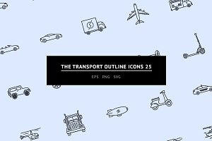 The Transport Outline Icons 25