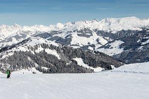 Winter , skiers, ski slopes