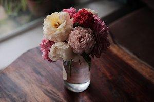 Beautiful rose flower pot