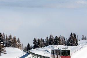 Winter lanscape from the ski slopes