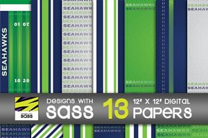 Digital Paper, Seattle Football