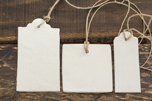 Blank tag,  rectangular and square,