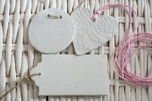 Blank tag,  heart ,rectangular and s