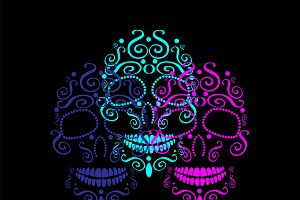 Skulls Day of the dead, Halloween