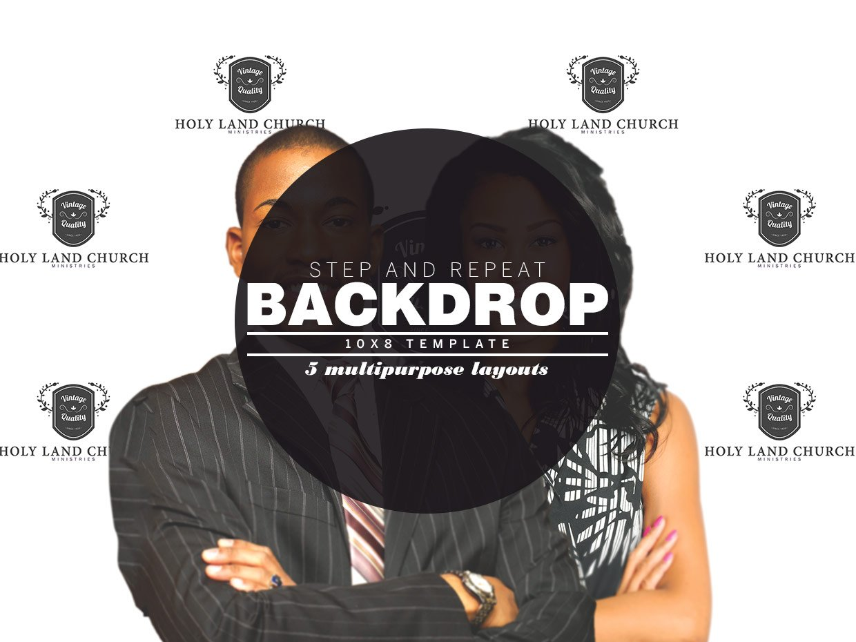 Step And Repeat Backdrop Template Templates Creative Market - Step and repeat template