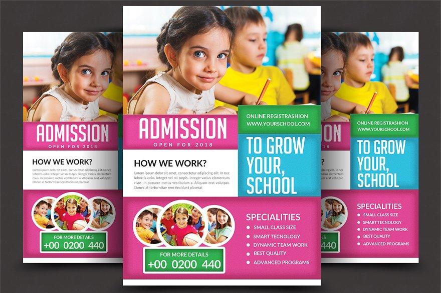 School Education Flyer Template Flyer Templates Creative Market Pro