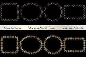Moroccan Metallic Frames