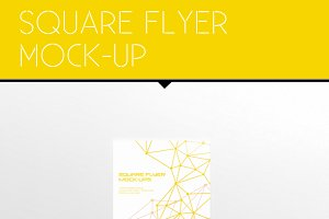 Square Flyer Mock-Ups