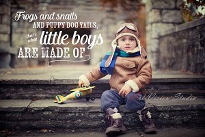 Boy Word Phrase Photo Overlay