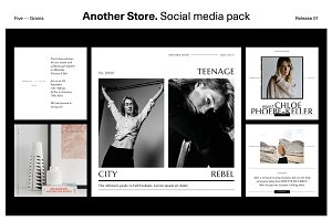 Another Store. Social media pack
