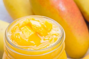 smoothie sweet yellow mango fruit