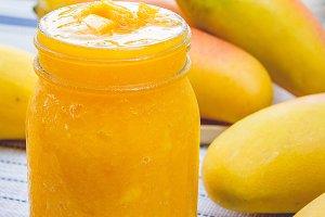 smoothie yellow sweet mango fruit