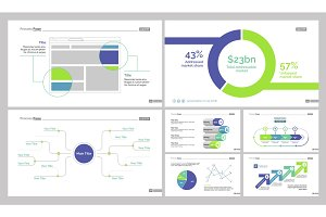Company Statistics Diagram Set