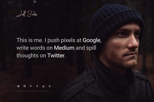 Me - One Page HTML Template