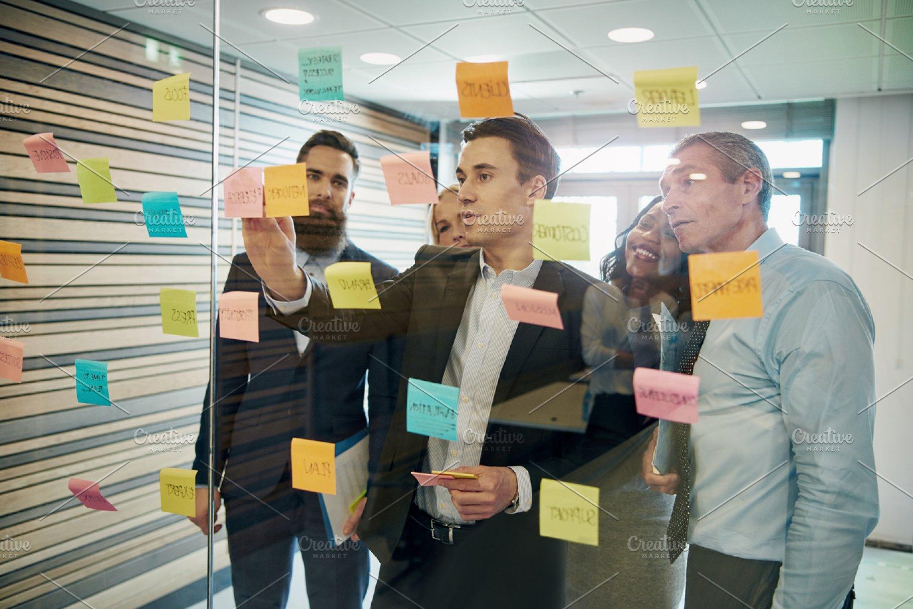 Group Of Business People Brainstorming