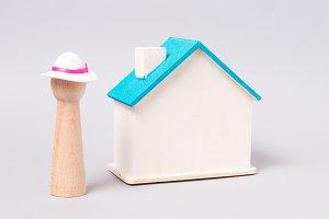 Miniature wooden figurine, symbol