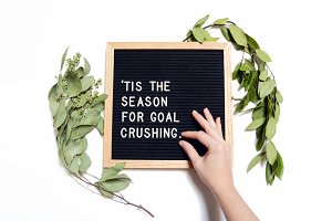 Goal Crushing Letter Board