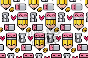 Seamless School Pencil Pattern