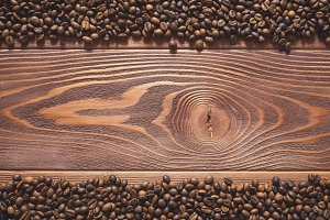 Background image of coffee beans