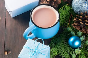 Christmas traditional  drink cocoa