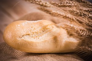bread wheat wood burlap