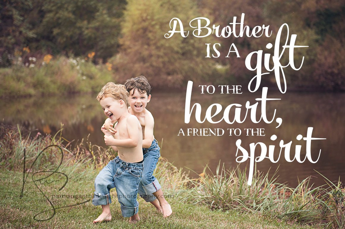 Brother Word Phrase Overlay Photo