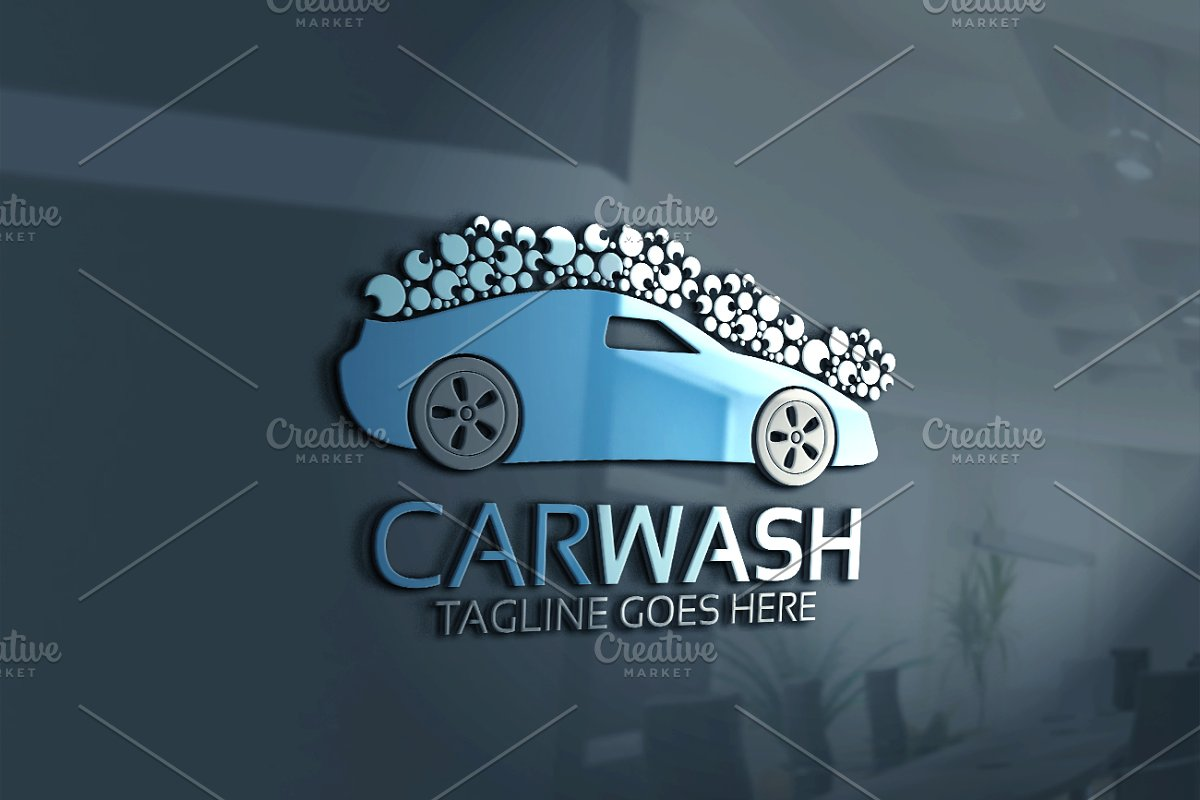 Car Wash Logo Logo Templates Creative Market