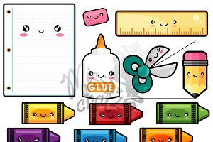 Kawaii School Stationary