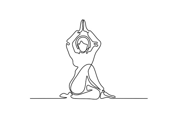 Woman doing exercise in yoga pose