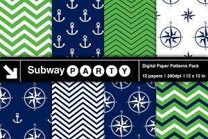 Nautical Navy & Green Papers v1