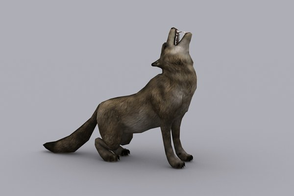3D Animals: PROTOFACTOR  - WOLF with Native File