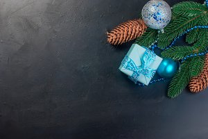 Christmas background blue color