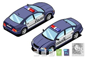 Isometric image of squad car
