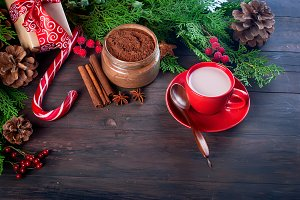 Christmas traditional hot cocoa