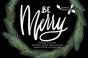 Be Merry Holiday Graphic Pack