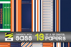 Digital Paper, Broncos Football