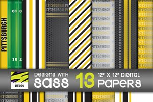 Digital Paper, Pittsburgh Football