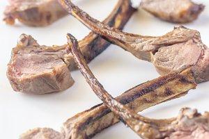 Grilled lamb rib chops