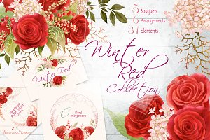Red Roses Clipart Collection